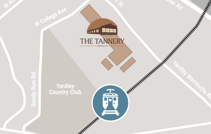 Map displaying proximity of SEPTA to The Tannery.